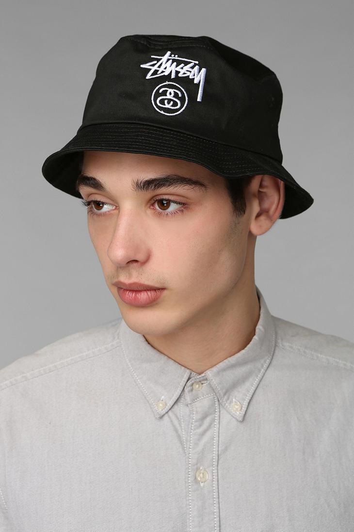 b3de676f6dd Lyst - Urban Outfitters Stussy Classic Bucket Hat in Black for Men