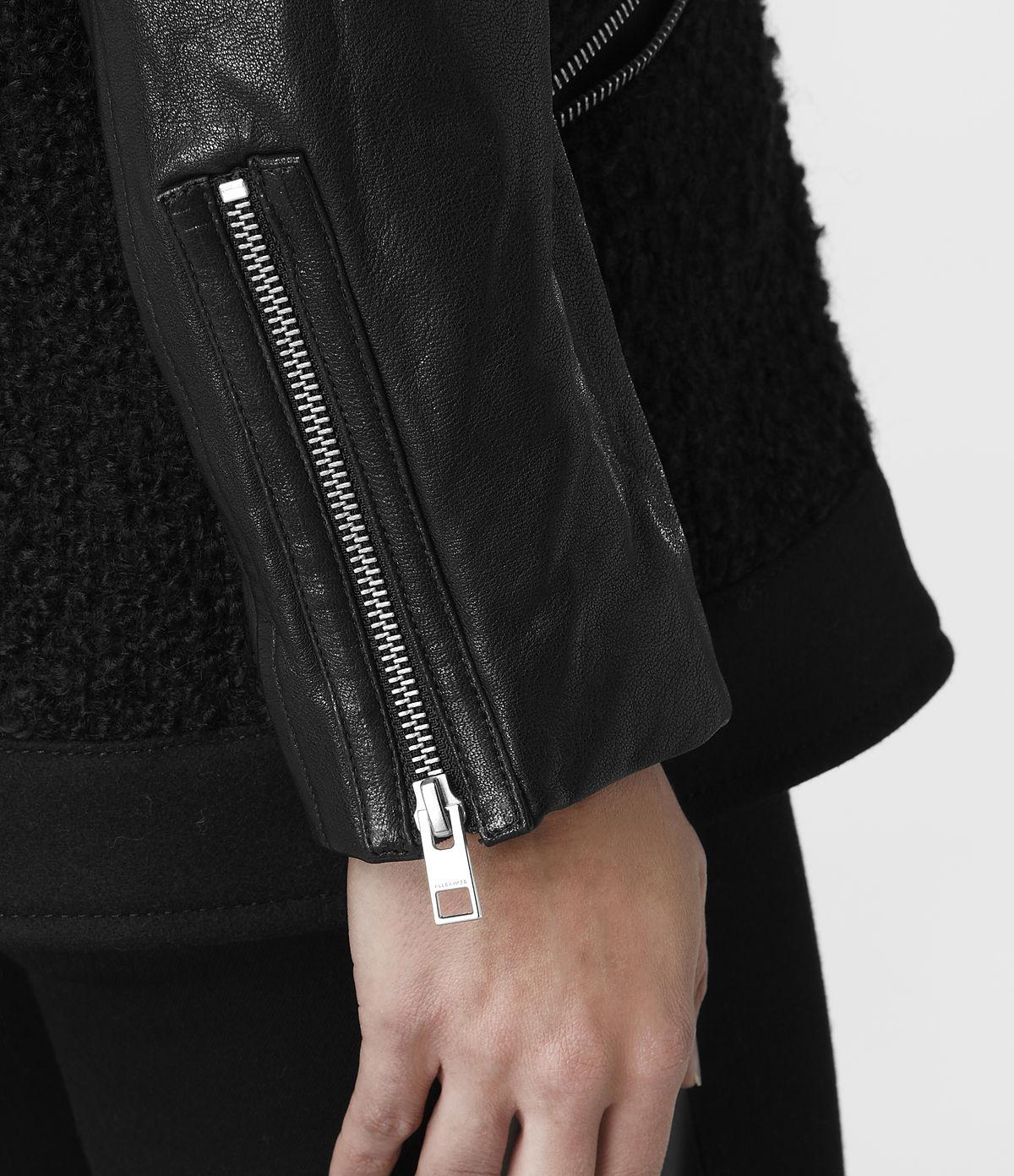 Allsaints Cho Biker Jacket in Black | Lyst
