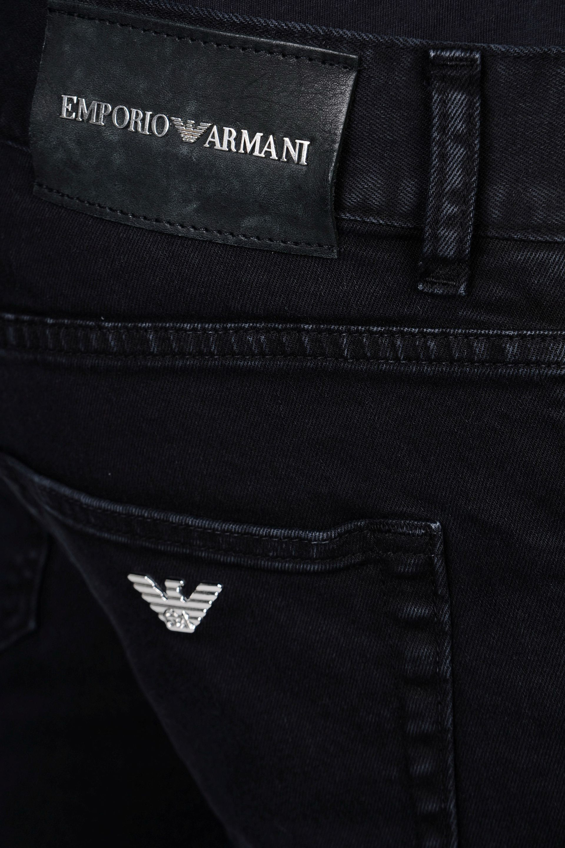 acb28a34 Emporio Armani Slim Fit Clean Wash Jeans in Black for Men - Lyst