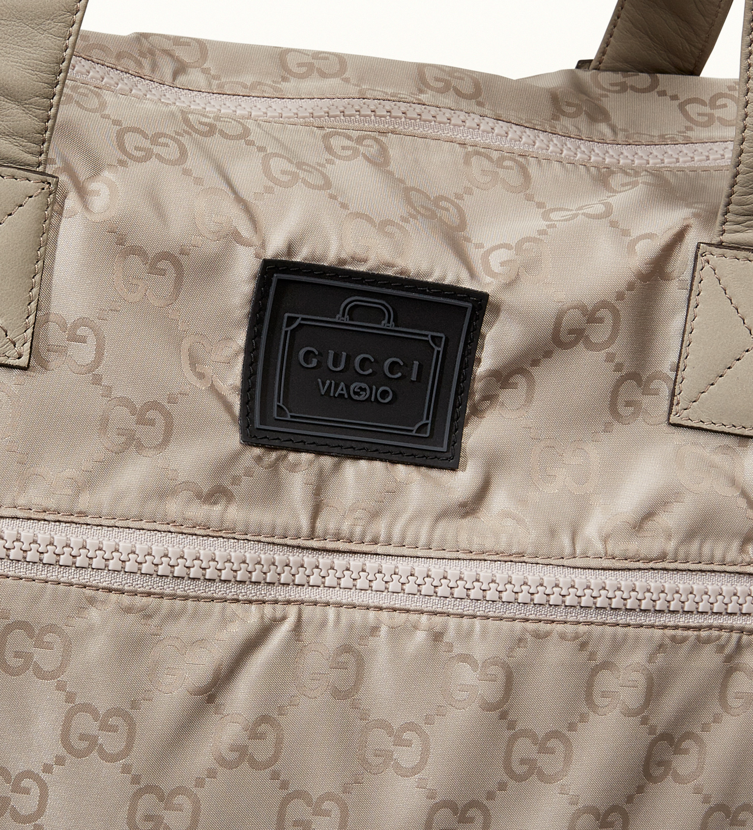 7fd1a9bccd4a Lyst - Gucci Gg Nylon Duffel Bag From Viaggio Collection in Gray for Men