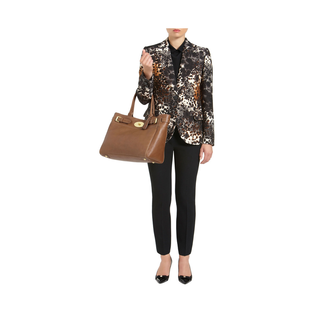 f296010a75 ... chocolate brown aff6f 64452 germany mulberry bayswater tote in brown  lyst 84d98 ea204 ...