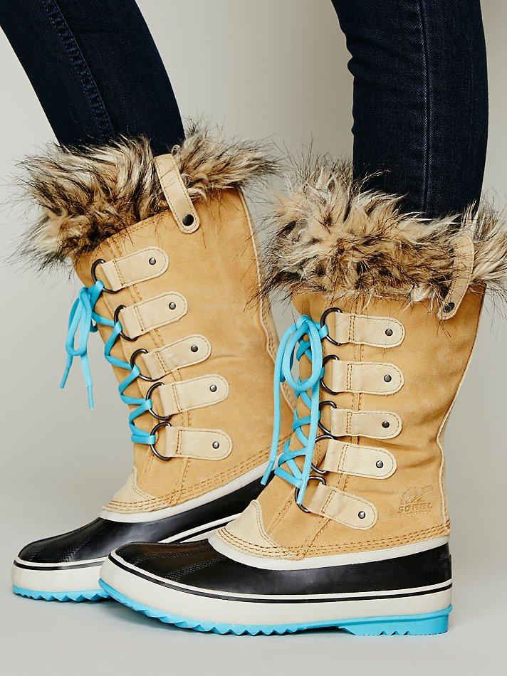 lyst sorel joan of arctic boot in natural. Black Bedroom Furniture Sets. Home Design Ideas