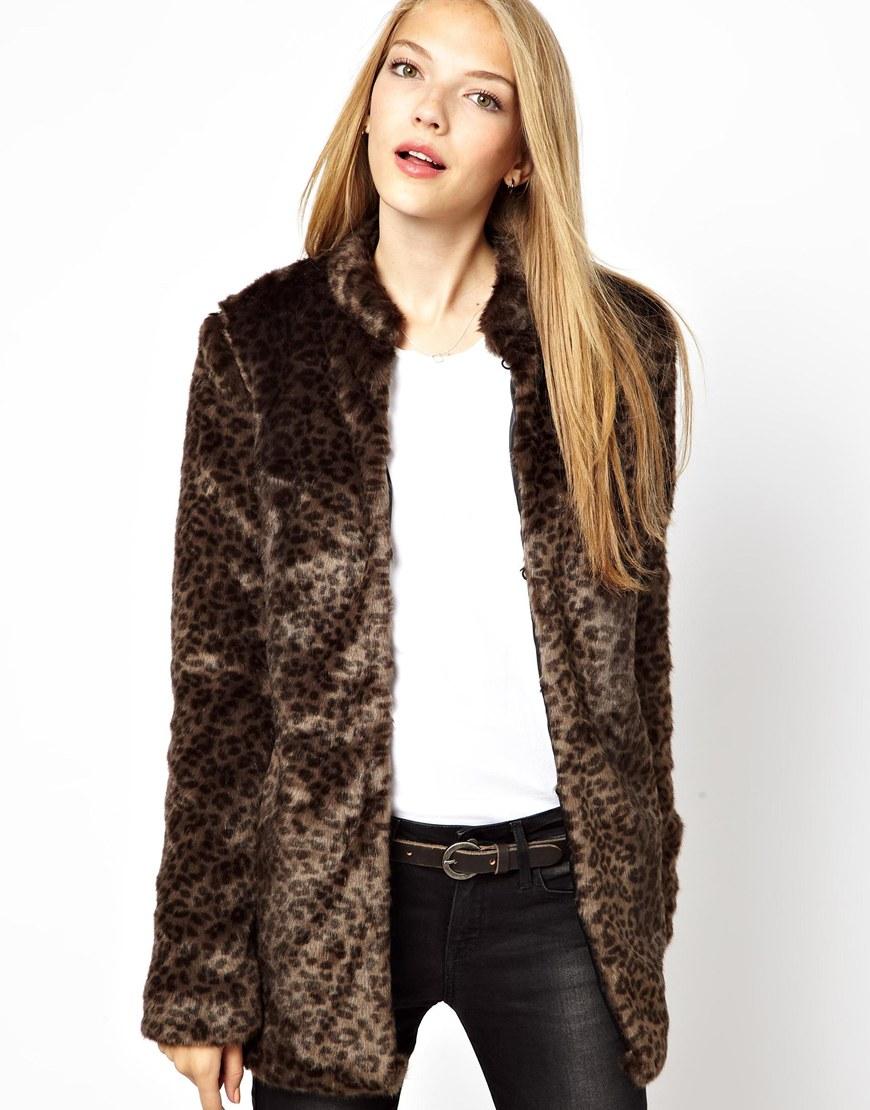 Leopard jacka vero moda