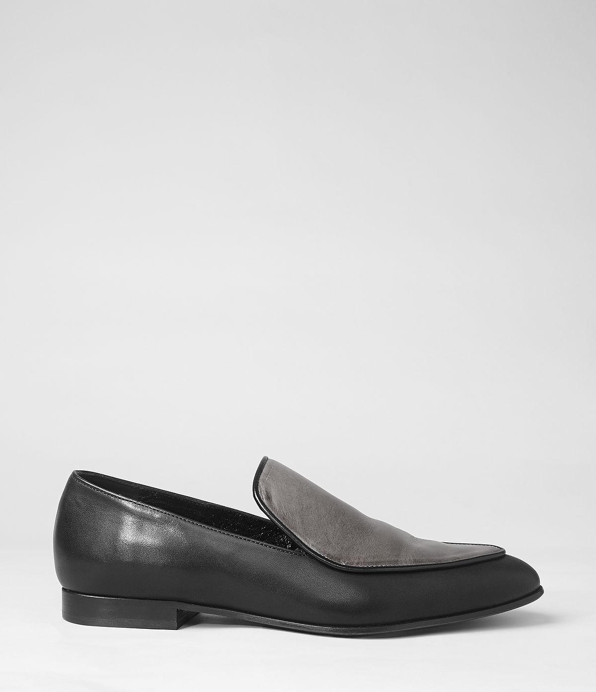 c55dcd5820f AllSaints Keiko Loafer in Black - Lyst