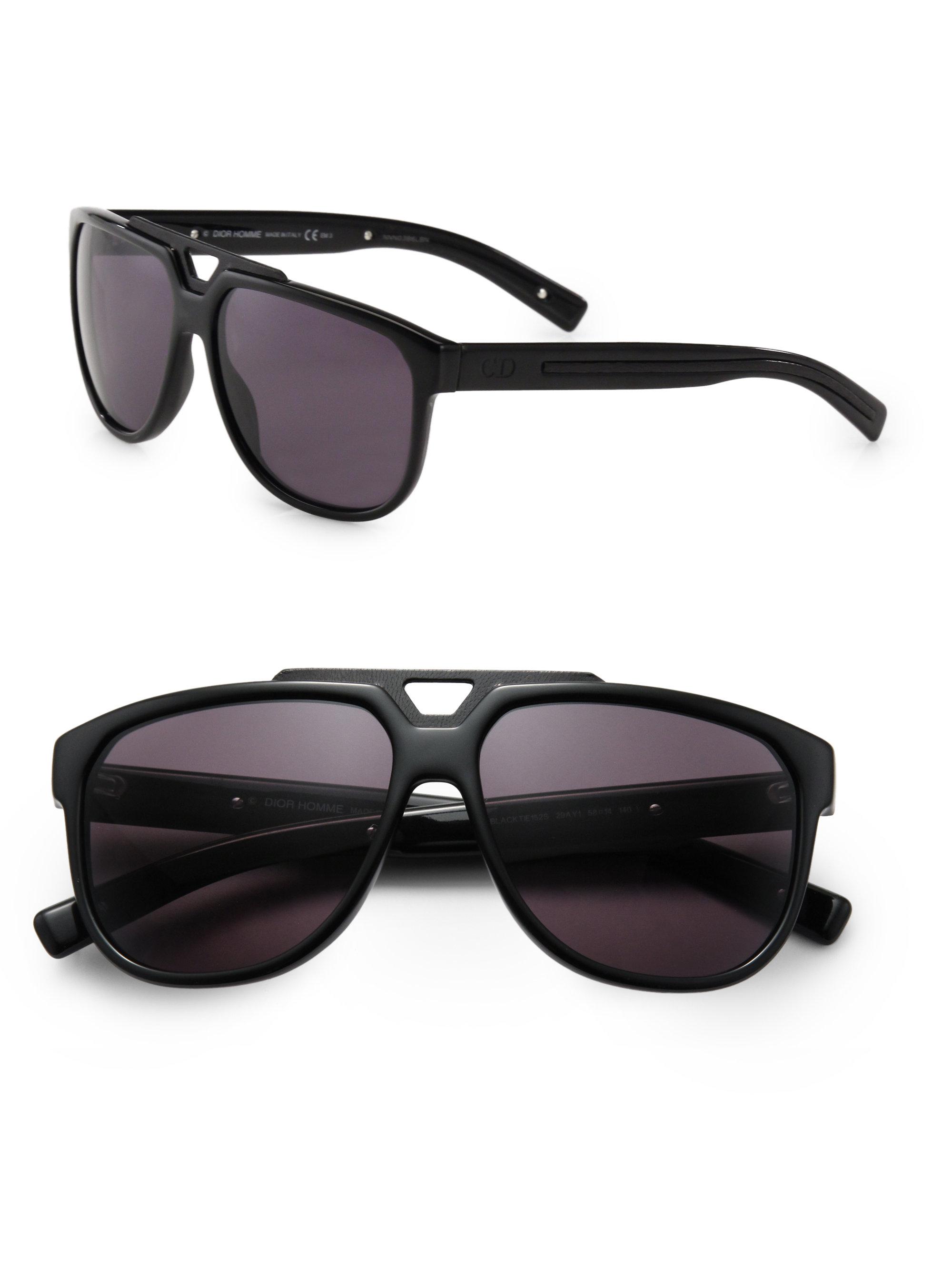 Dior Mens Sunglasses  dior homme acetate navigator sunglasses in black for men lyst