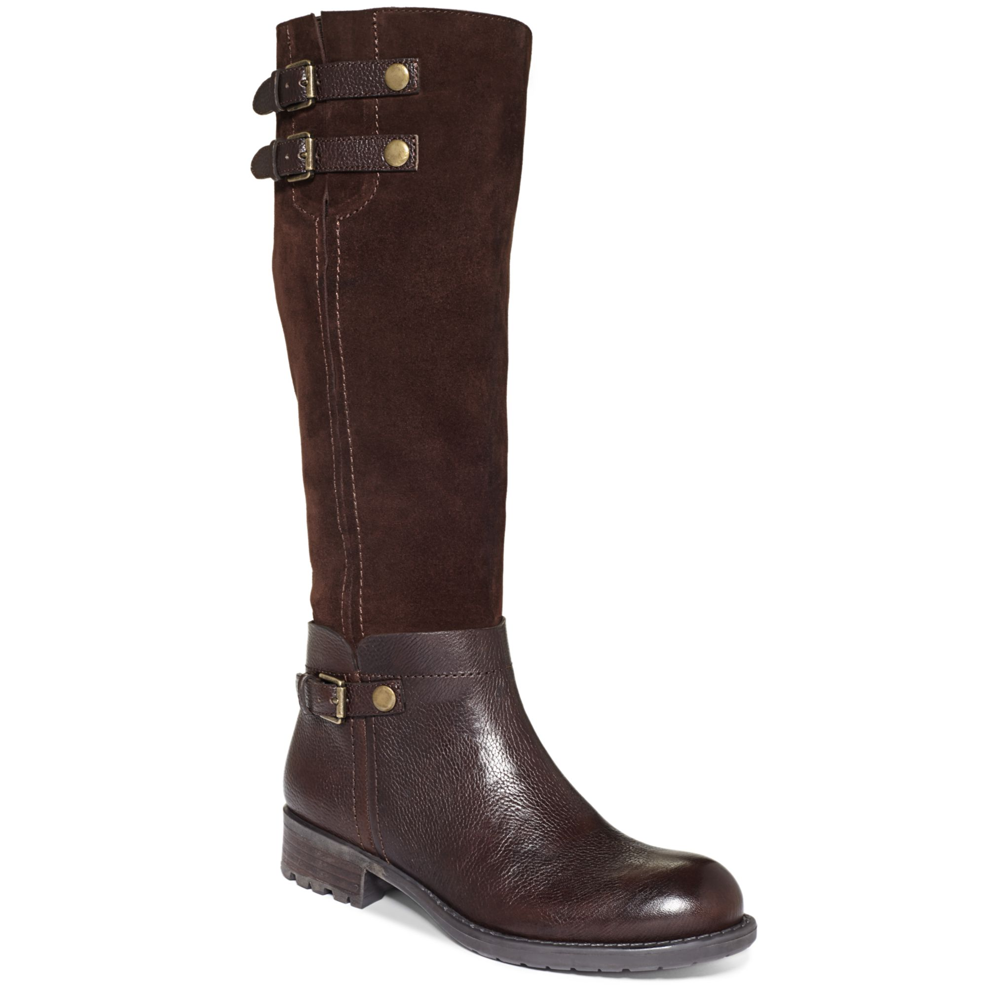 franco sarto pacer boots in brown milk chocolate