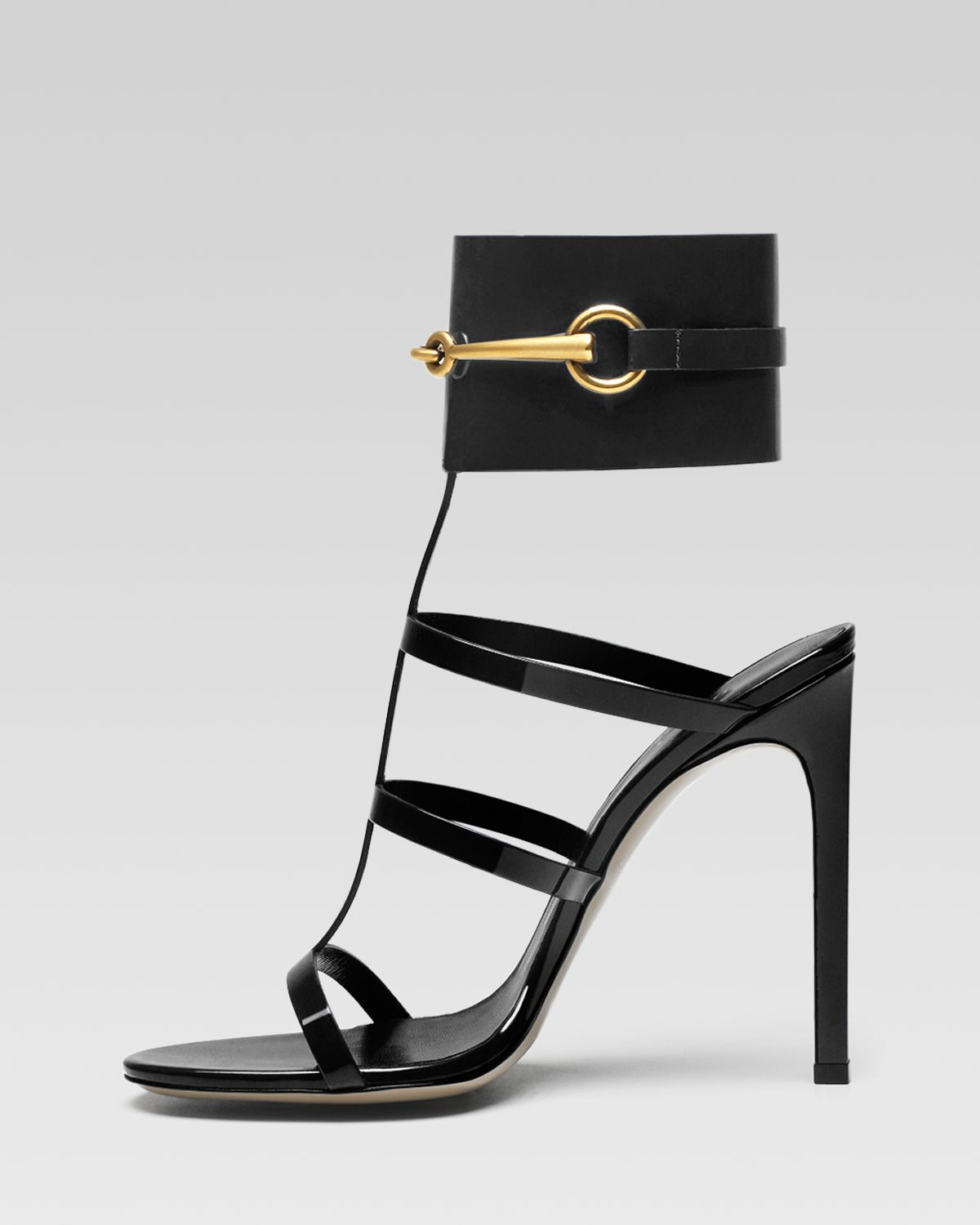 shoeniverse gucci ursula cage high heel sandal in red or