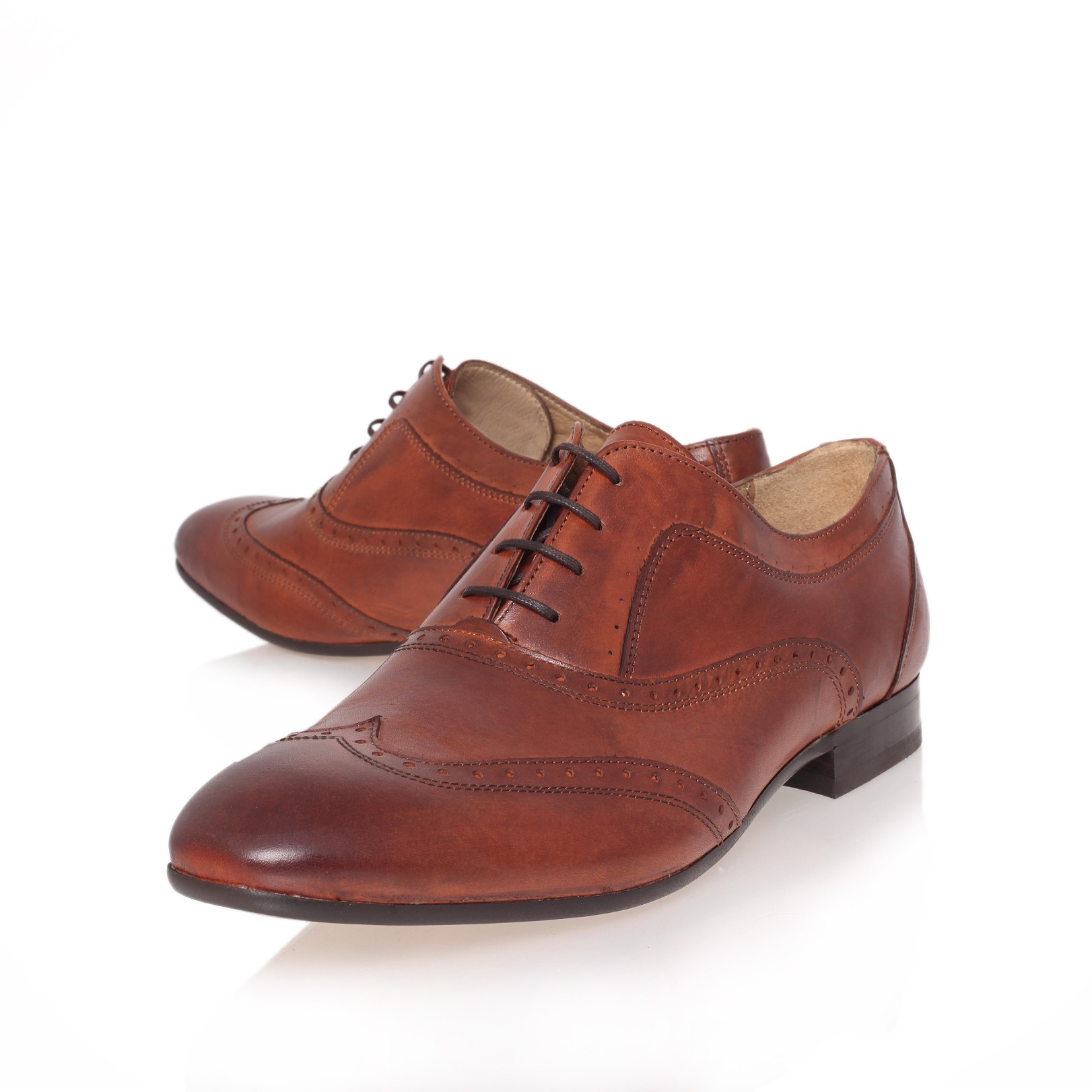 H By Hudson Leather Brogue Shoes