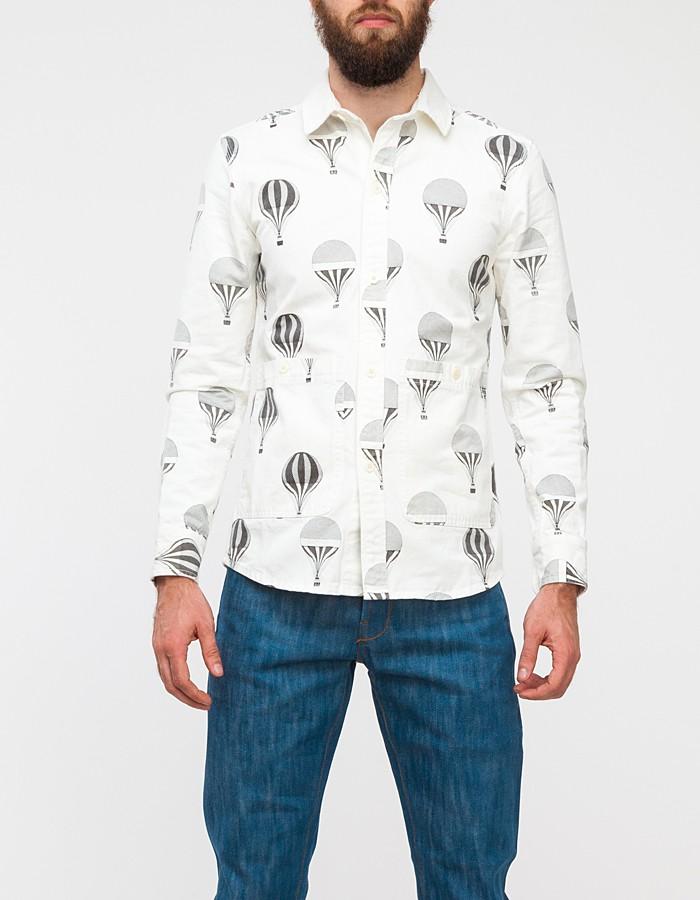 Lyst Han Kjobenhavn Public Shirt In White For Men