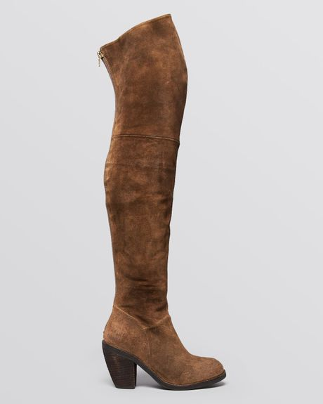 Jeffrey Campbell Over The Knee Boots Oklahoma In Brown