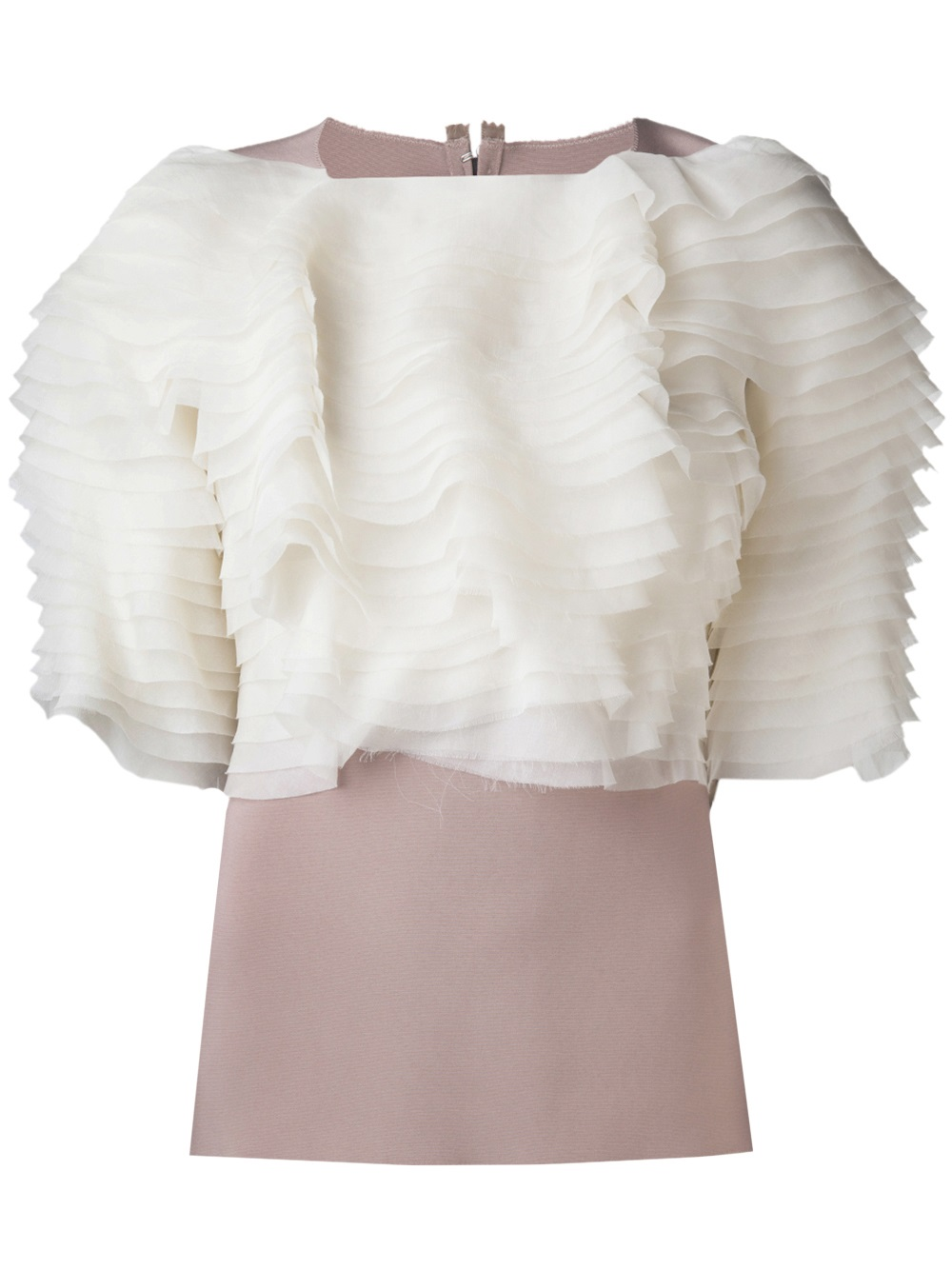 Ruffle Blouse White