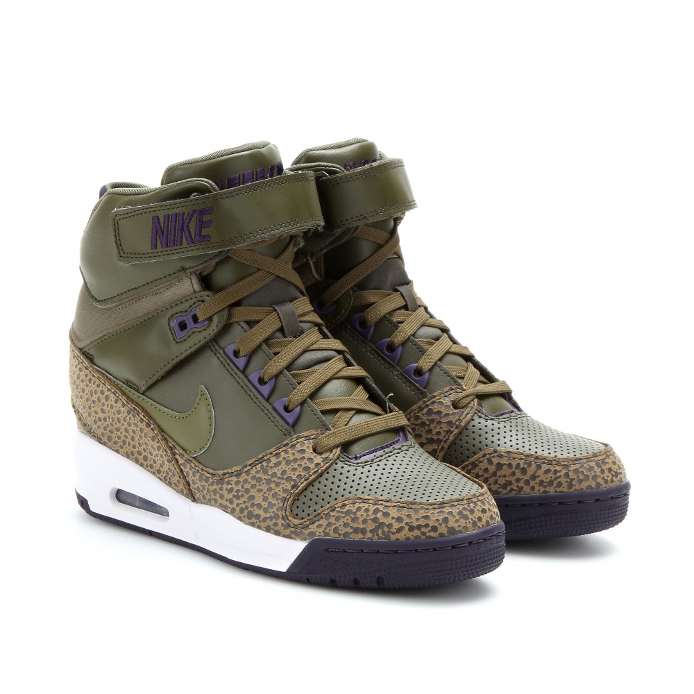 Lyst - Nike Air Revolution Sky Hi Wedge Sneakers in Brown