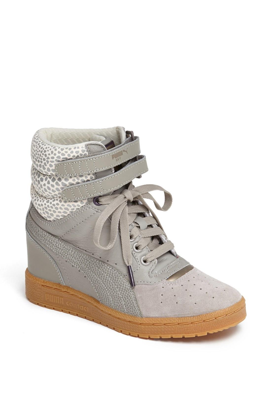 Puma Sky Wedge Sneaker in Gray (Elephant  Winter White)  6e92d1a01