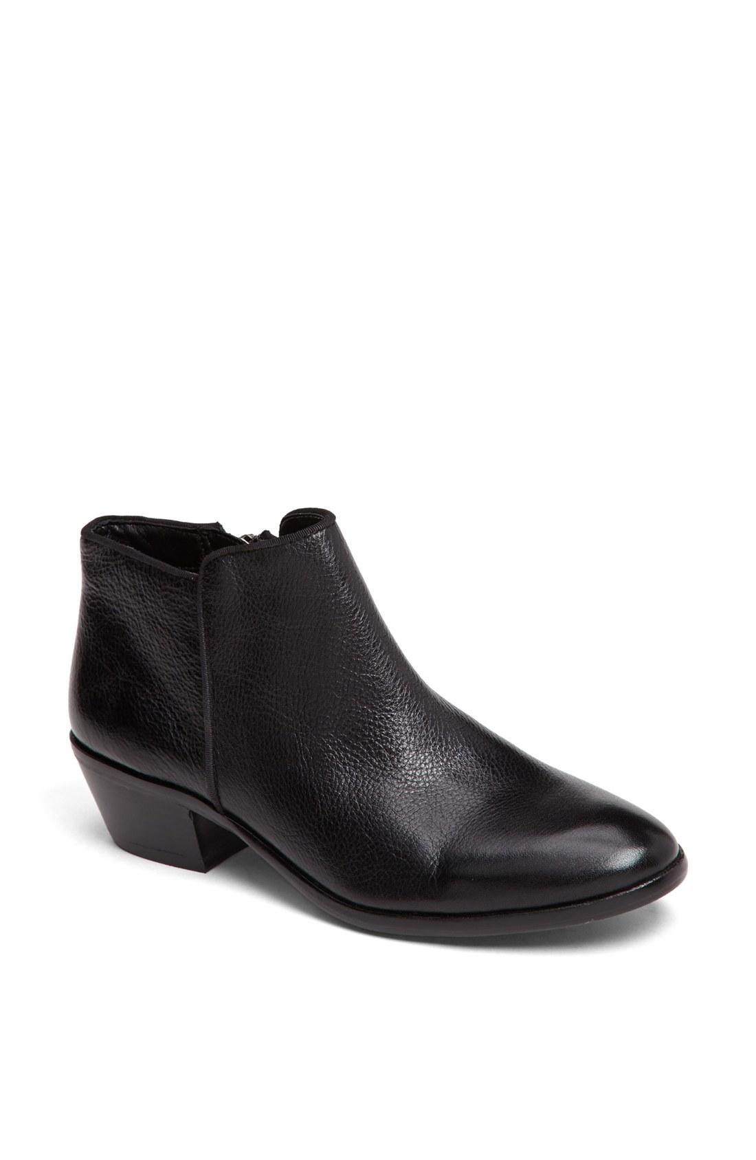 sam edelman petty bootie in black black leather lyst