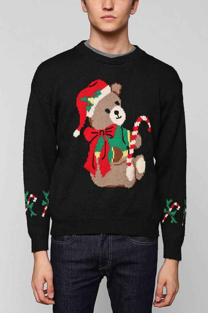 Black ugly christmas sweater