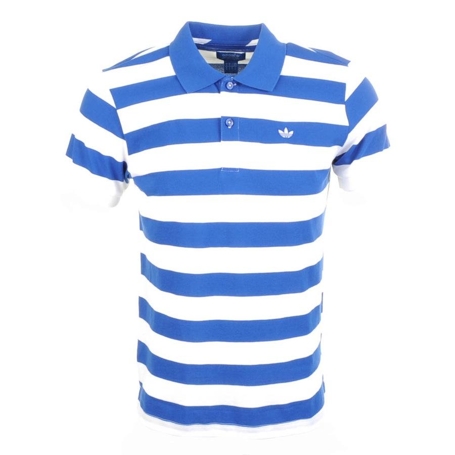 Adidas Originals Sailor Stripe Polo T Shirt in White for ...