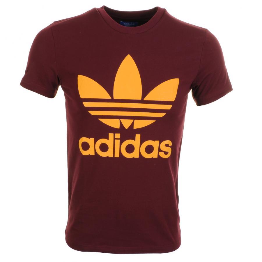 adidas originals slim trefoil t shirt in red for men