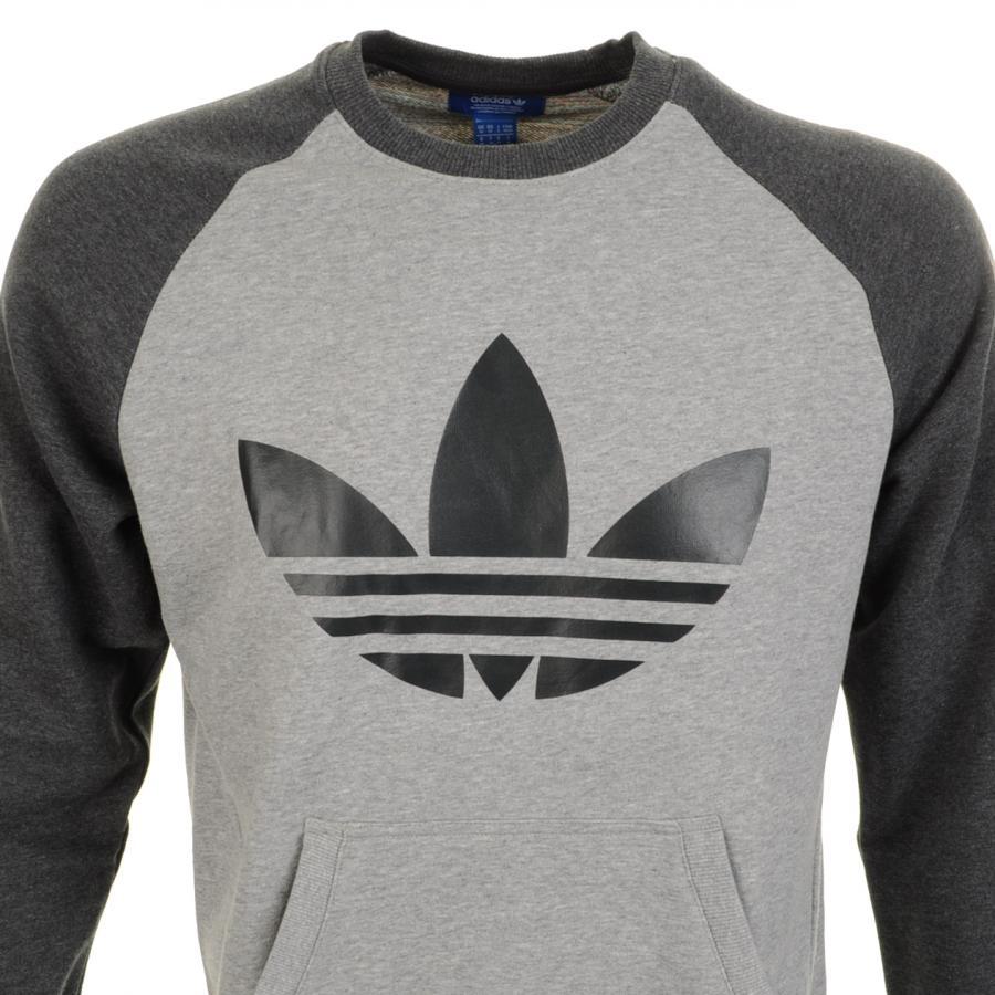5470d579404 Adidas Originals Trefoil en Raglan Jumper en gris para Adidas hombre Jumper  Lyst 13b4d49 - unduhmp3.pw