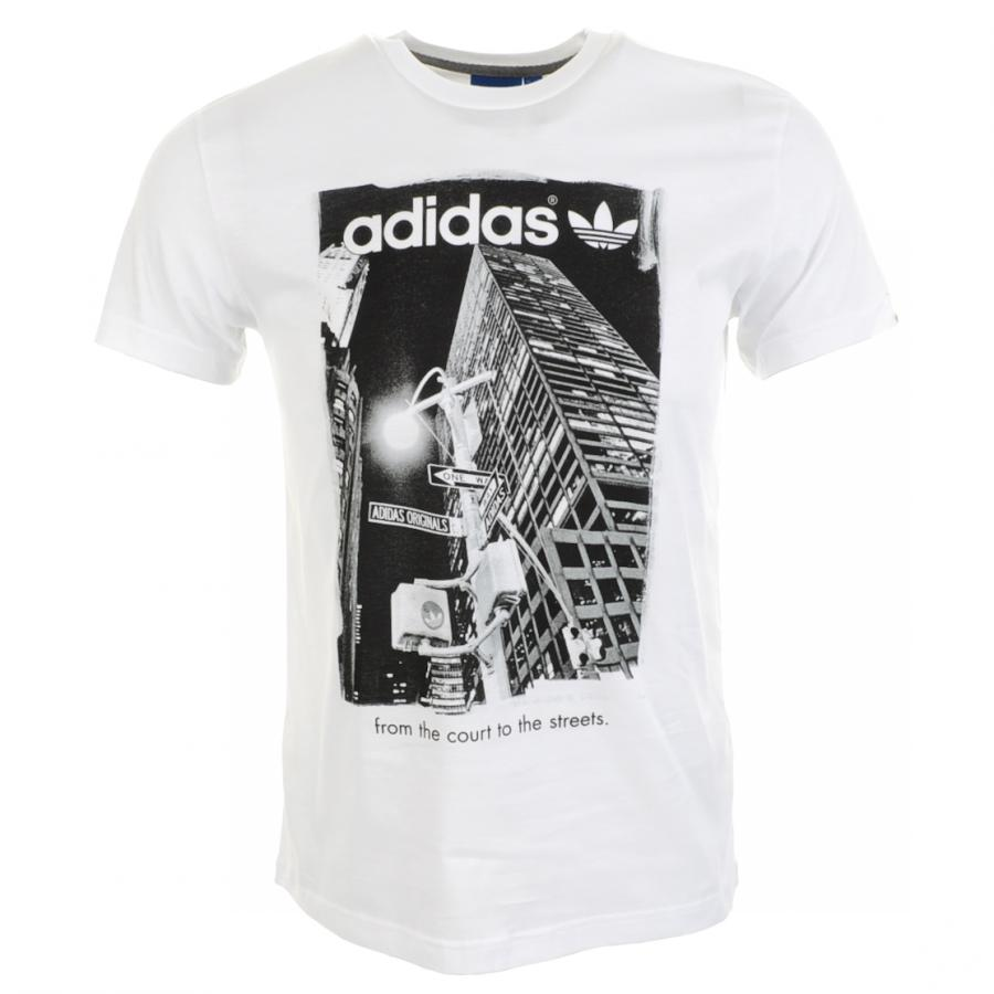 ba856bf2c558 Lyst - adidas Originals Tref At Night T-Shirt in White for Men