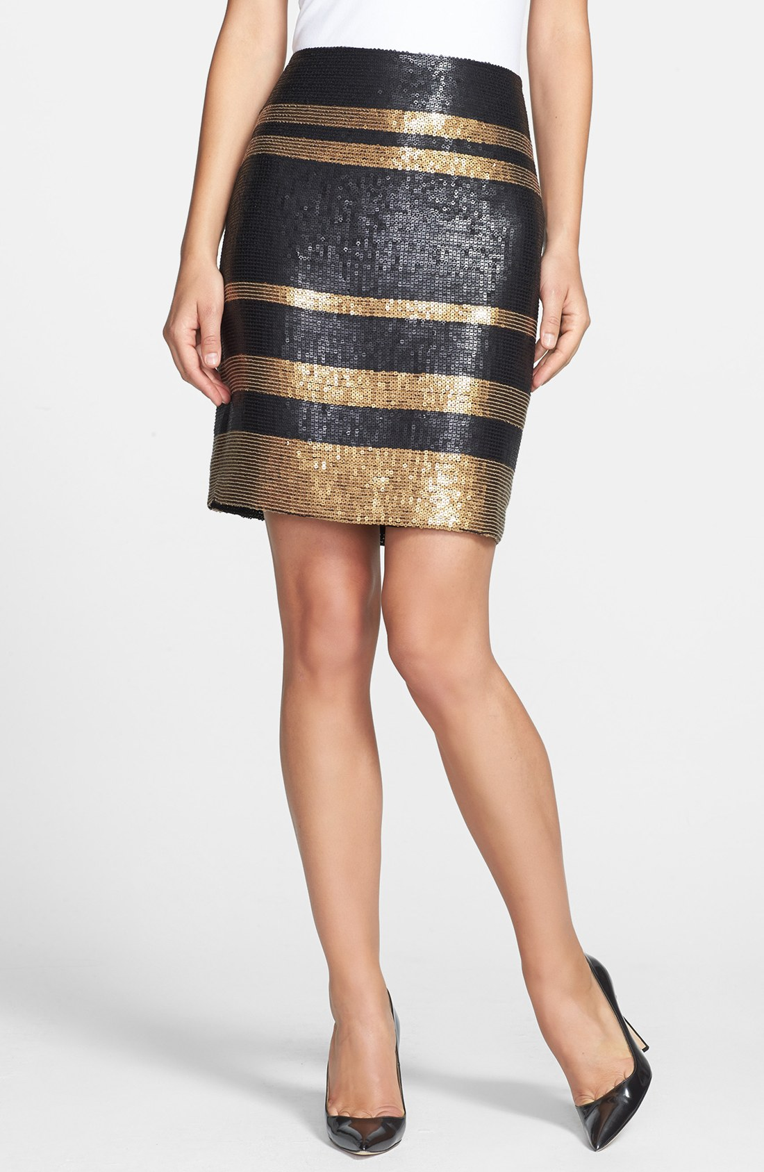 Add some sparkle to your outfit with a Gold Sequin Dress, including a Casual Gold Sequin Dress and a Formal Gold Sequin Dress, at Macy's.