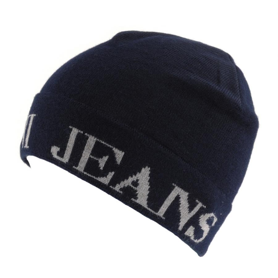 29a78c69 Armani Jeans Logo Beanie in Blue for Men - Lyst