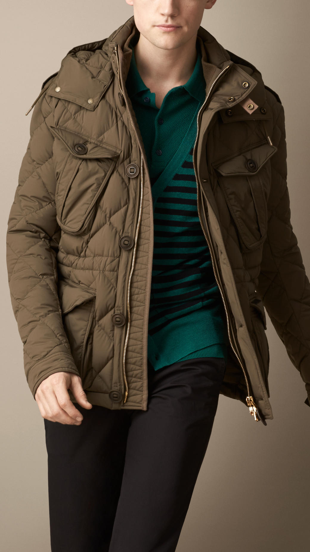 Lyst Burberry Downfilled Field Jacket With Removable