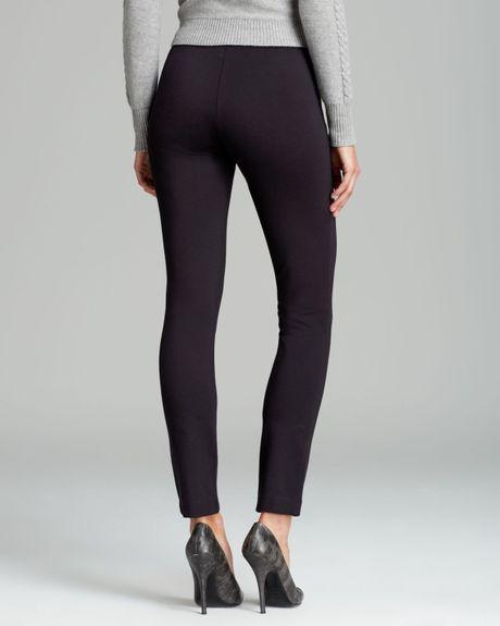 Calvin Klein Pull On Skinny Pants In Black Lyst