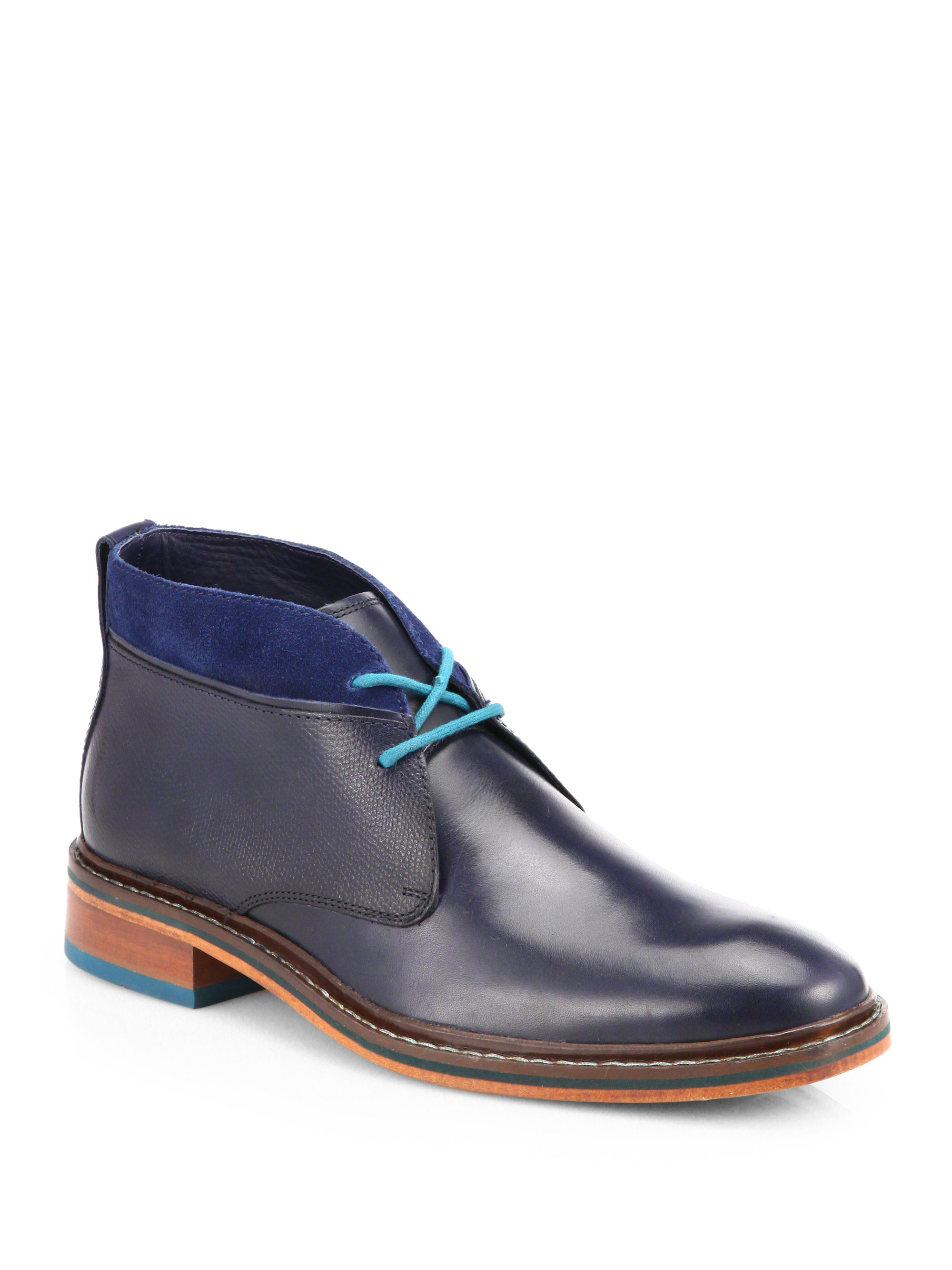Cole Haan Colton Winter Chukka Boots In Blue For Men Navy