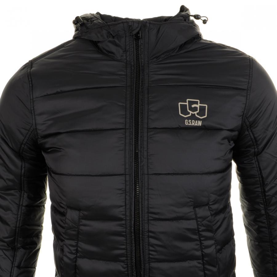 lyst g star raw fraser quilted jacket in black for men. Black Bedroom Furniture Sets. Home Design Ideas
