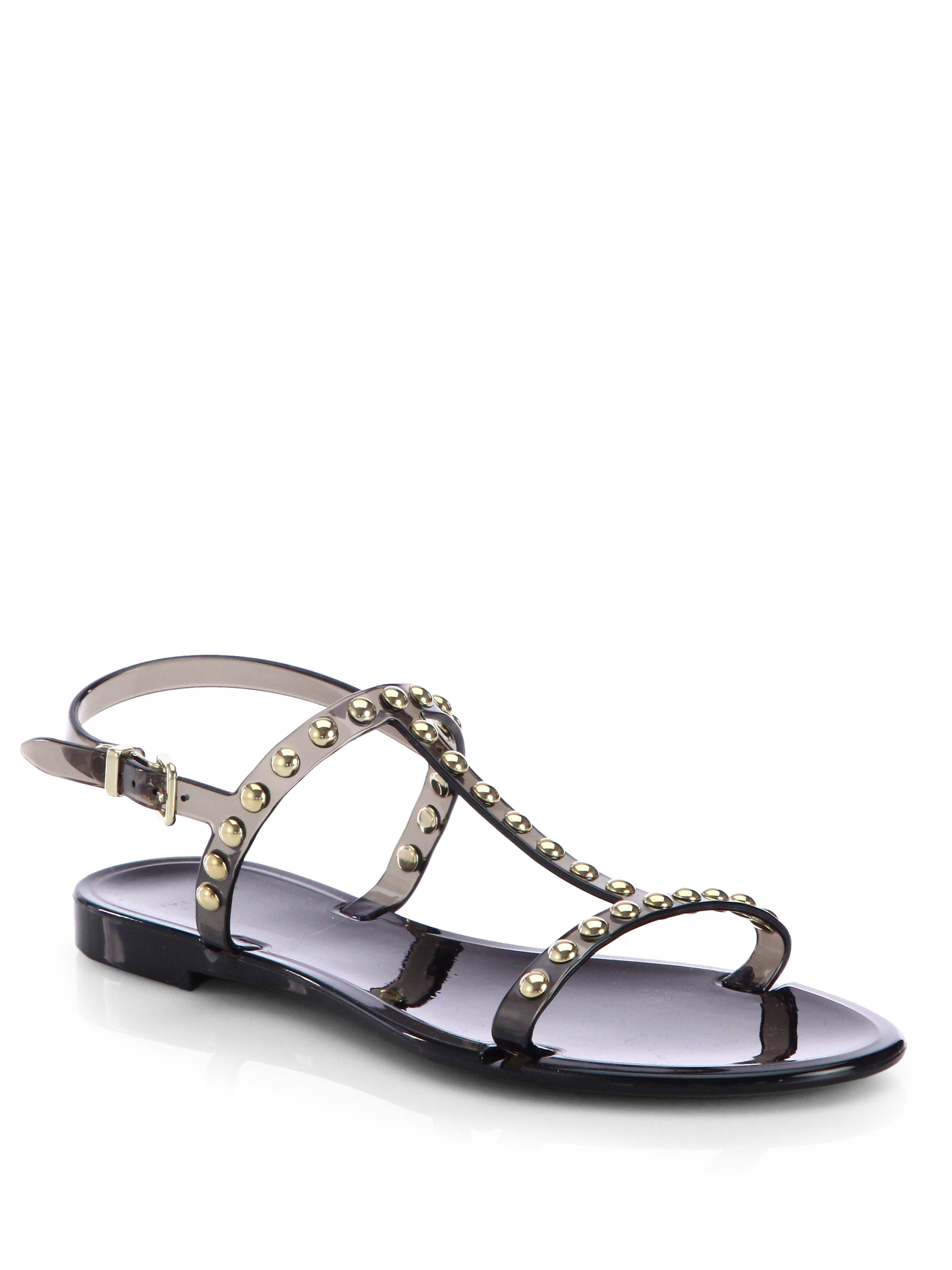 Givenchy Studded Jelly Sandals In Black Lyst