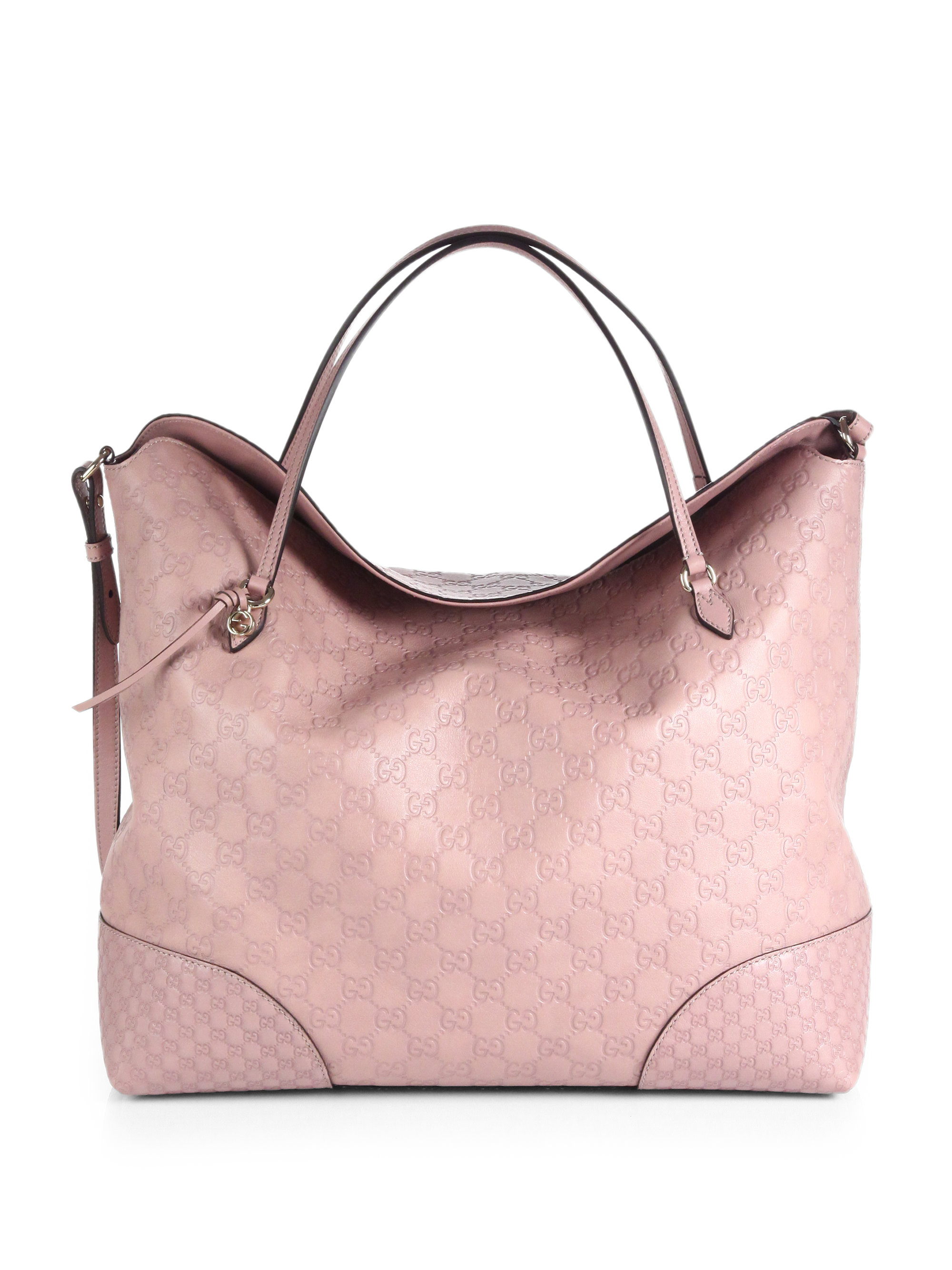 3ace73c64183 Gucci Bree Ssima Leather Tote in Pink - Lyst