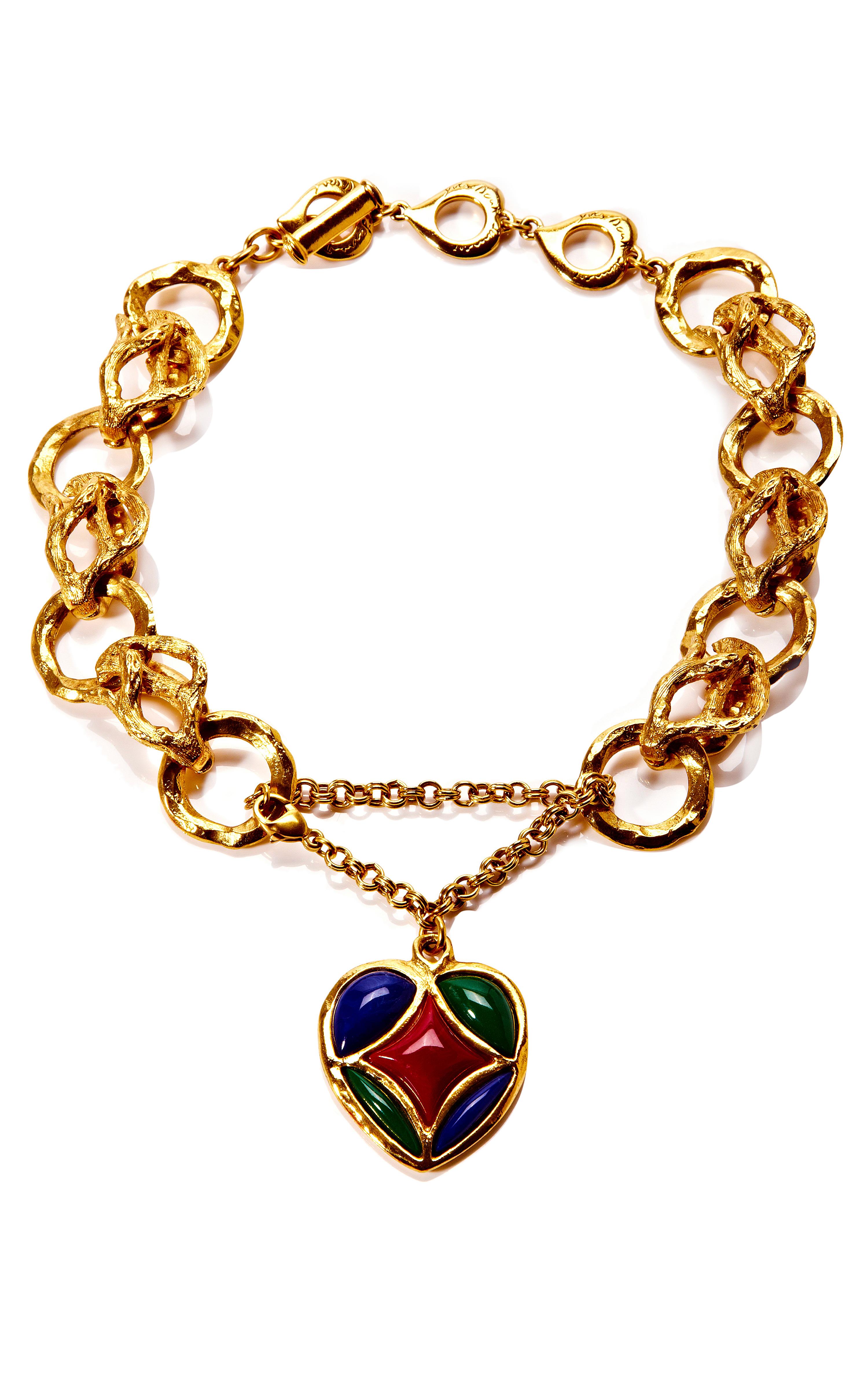 5976af12bff86f House of Lavande Domont Yves Saint Laurent Gold Chain Link Necklace ...