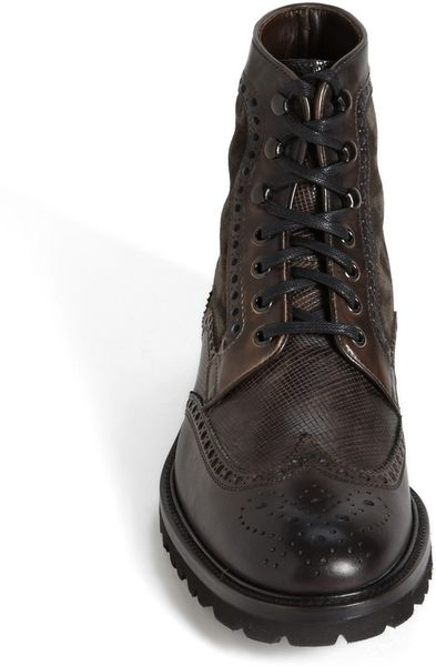Magnanni Enzo Wingtip Boot In Gray For Men Grey Lyst
