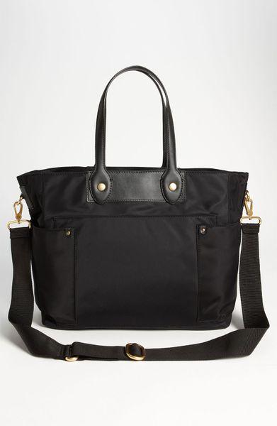 marc by marc jacobs 39 preppy nylon eliz a baby 39 diaper bag in black. Black Bedroom Furniture Sets. Home Design Ideas
