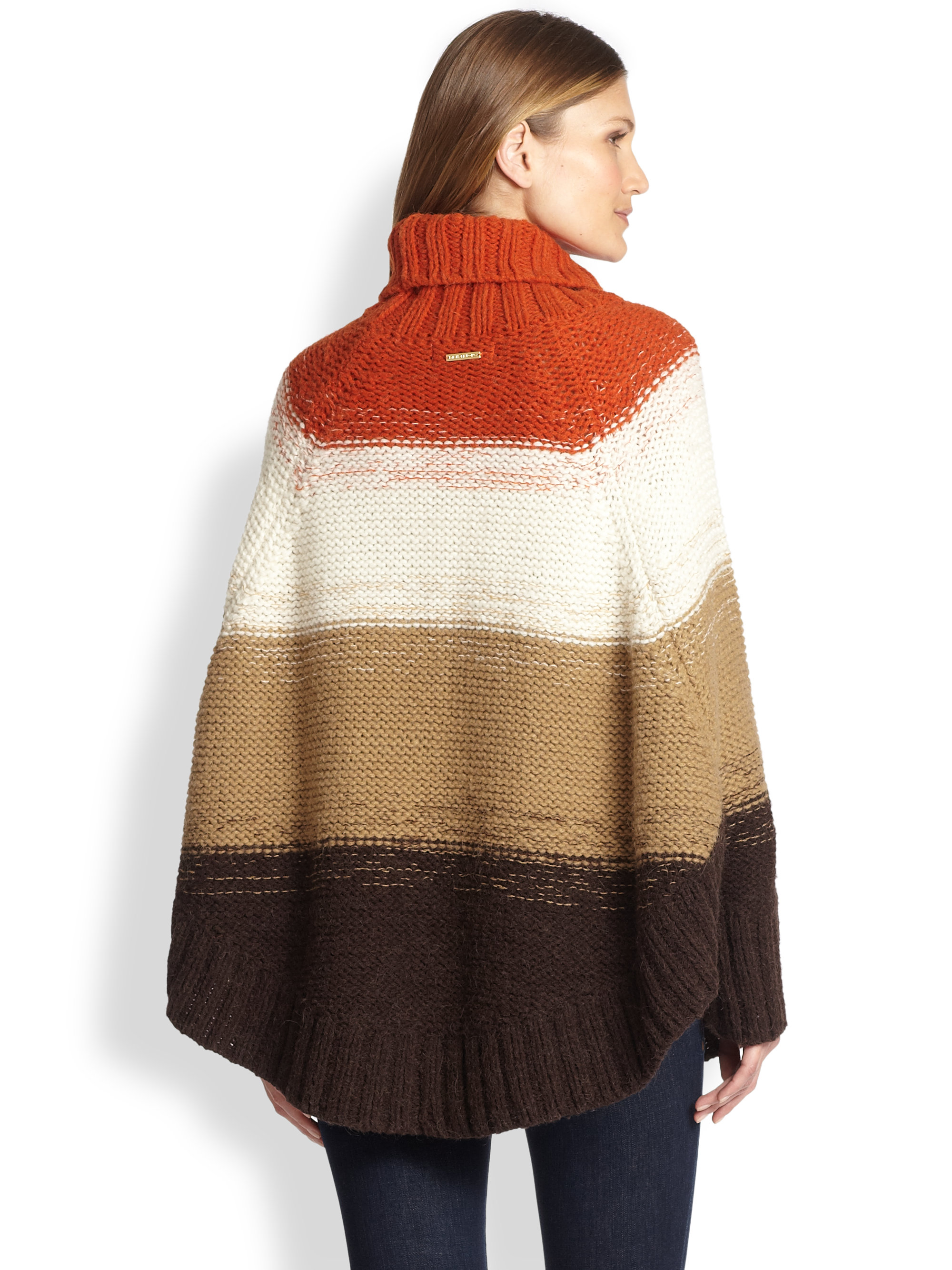Sweater Poncho With Sleeves