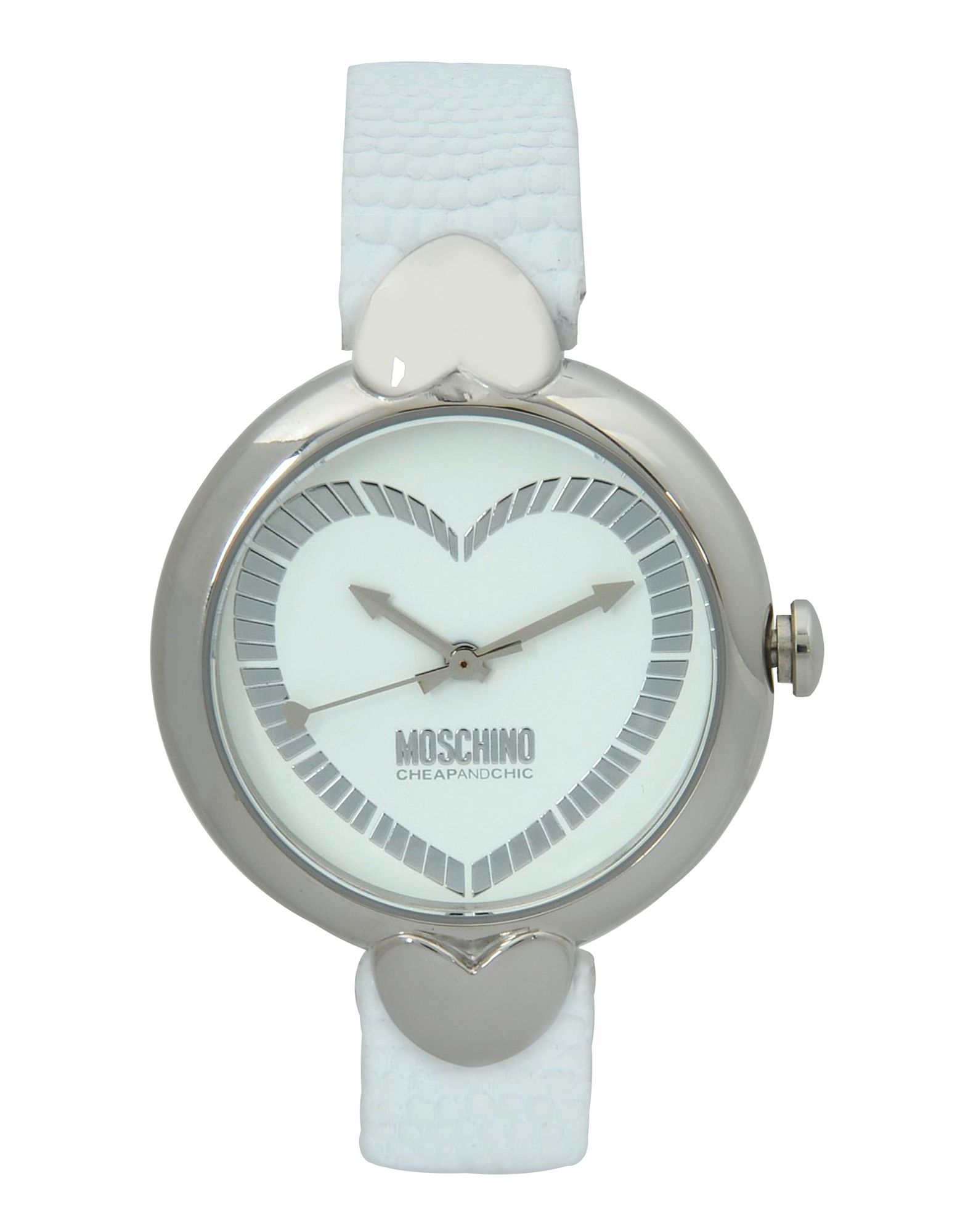 boutique moschino wrist in white lyst
