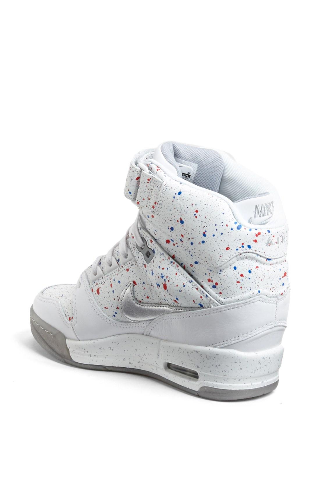 Lyst - Nike Air Revolution Sky Hi Hidden Wedge Sneaker in ...