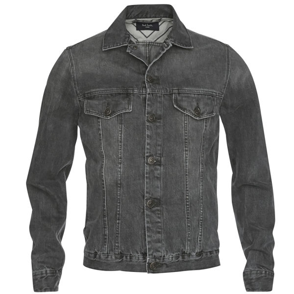 Paul smith Mens Western Midwash Denim Jacket in Gray for Men | Lyst