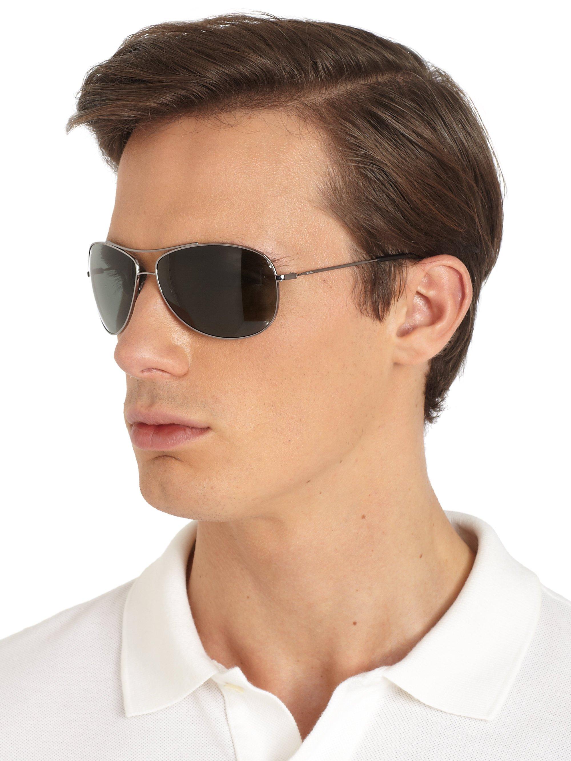ray ban aviator wrap sunglasses