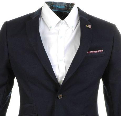 Ted Baker Wool Blazer In Blue For Men Navy Lyst
