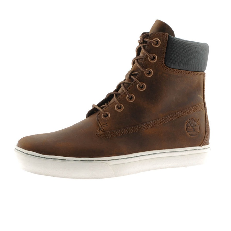 timberland 20 newmarket 6inch cupsole boots in brown for