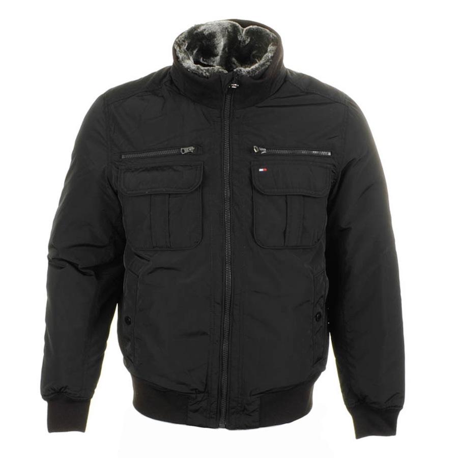 tommy hilfiger ken bomber jacket in black for men lyst. Black Bedroom Furniture Sets. Home Design Ideas