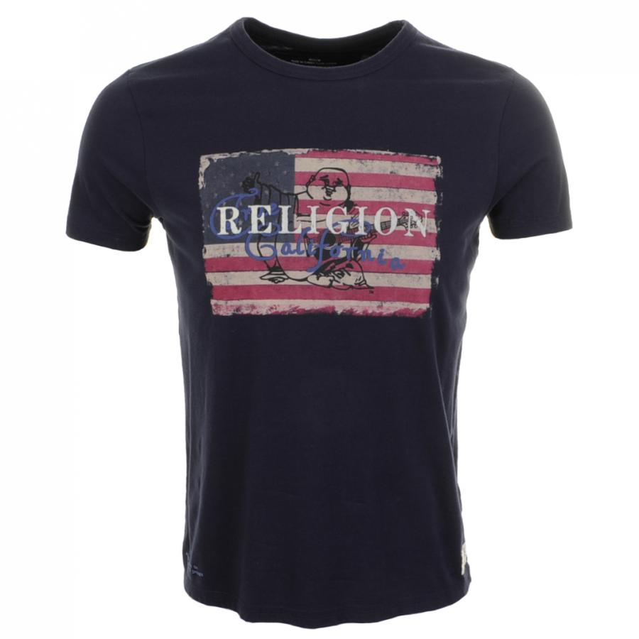 true religion us buddha t shirt rugby in blue for men lyst. Black Bedroom Furniture Sets. Home Design Ideas