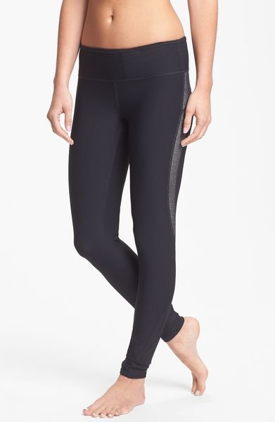 Zella Double Dare Sparkle Leggings in Black
