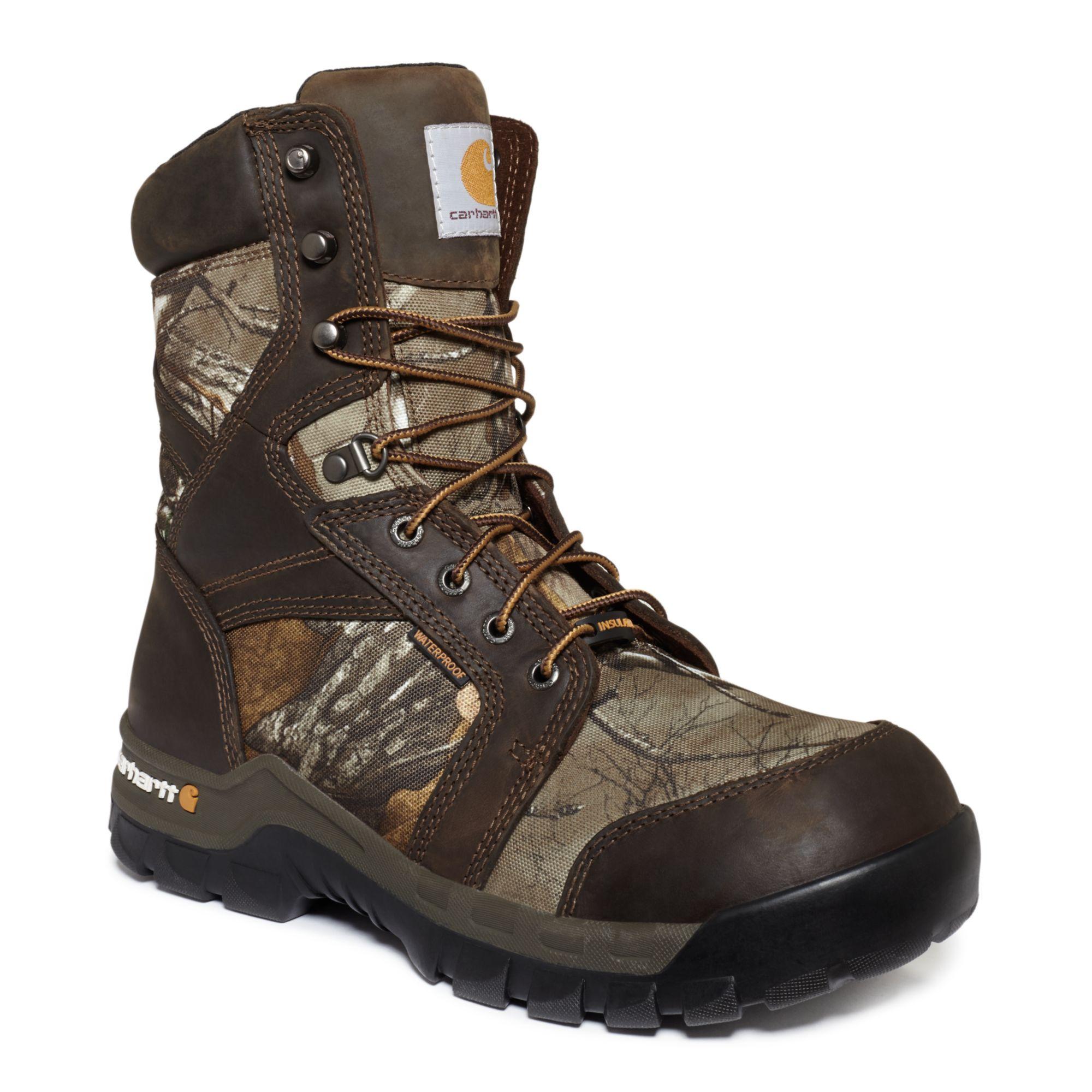carhartt 8 inch work flex waterproof insulated boots in