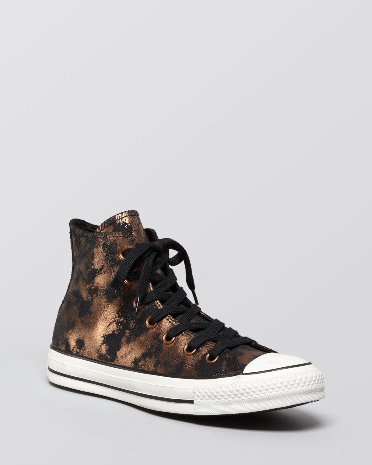 fc41f01951a9 Lyst - Converse Lace Up High Top Sneakers All Star Metallic in Black