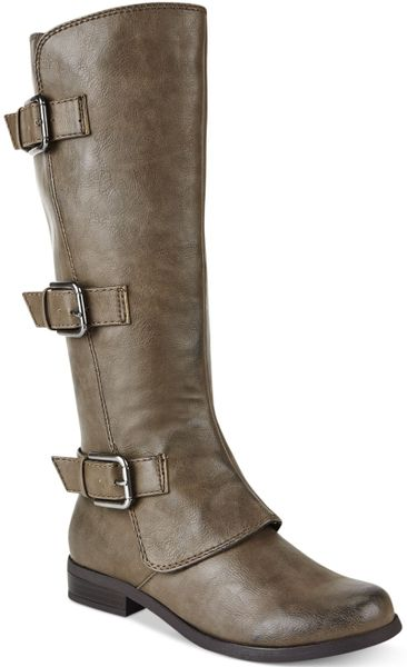 Fergie Fergalicious Smith Tall Shaft Boots in Brown (Taupe ... Fergie Shoes