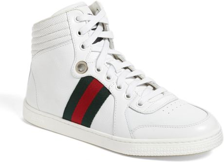 gucci 39 coda 39 high top sneaker in white lyst. Black Bedroom Furniture Sets. Home Design Ideas