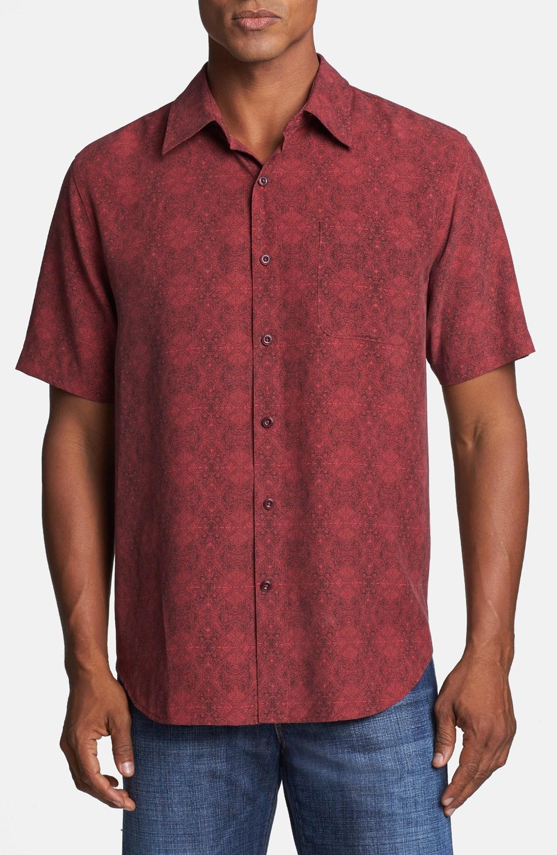 Nat Nast Vito Silk Short Sleeve Sport Shirt In Purple For