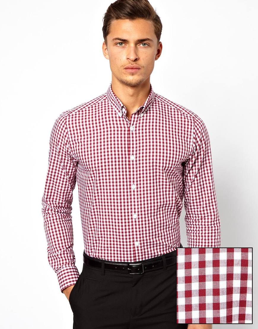 Lyst Eleven Paris Smart Gingham Check Shirt With Button